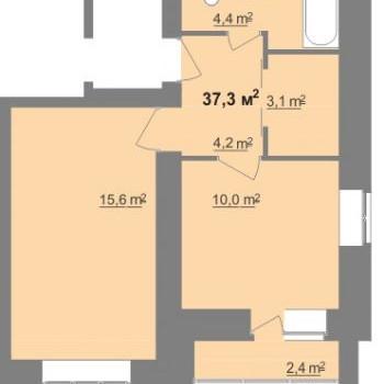 ЖК Дом на Иванова (Нижний Новгород) – планировка №15