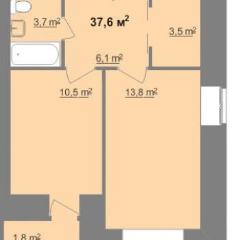 ЖК Дом на Иванова (Нижний Новгород) – планировка №14