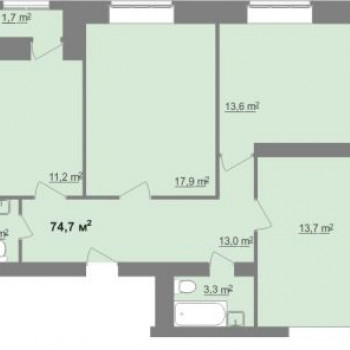 ЖК Дом на Иванова (Нижний Новгород) – планировка №2