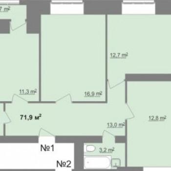 ЖК Дом на Иванова (Нижний Новгород) – планировка №1