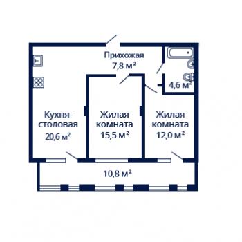 ЖК Планетарий (Нижний Новгород) – планировка №3