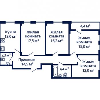 ЖК Планетарий (Нижний Новгород) – планировка №12