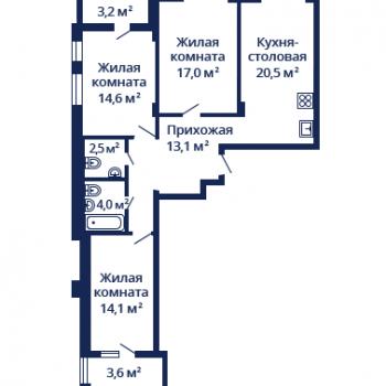 ЖК Планетарий (Нижний Новгород) – планировка №11