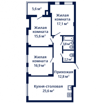 ЖК Планетарий (Нижний Новгород) – планировка №10