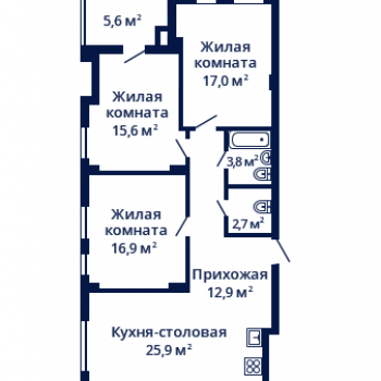 ЖК Планетарий (Нижний Новгород) – планировка №9