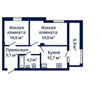ЖК Планетарий (Нижний Новгород) – планировка №8