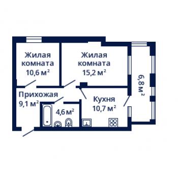 ЖК Планетарий (Нижний Новгород) – планировка №7