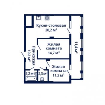 ЖК Планетарий (Нижний Новгород) – планировка №6