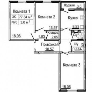 ЖК Корабли (Нижний Новгород) – планировка №3