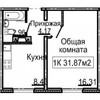 ЖК Корабли (Нижний Новгород) – планировка №1