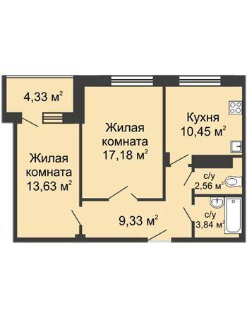 ЖК Облака (Нижний Новгород) – планировка №5