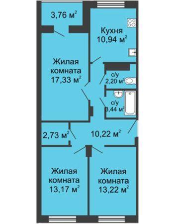 ЖК Облака (Нижний Новгород) – планировка №3