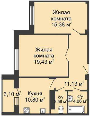 ЖК Облака (Нижний Новгород) – планировка №4