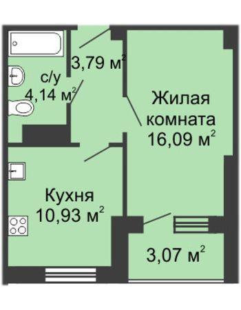 ЖК Облака (Нижний Новгород) – планировка №7