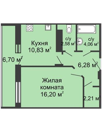 ЖК Облака (Нижний Новгород) – планировка №6