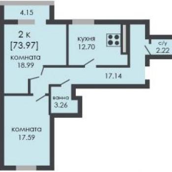 ЖК На Ошарской (Нижний Новгород) – планировка №4