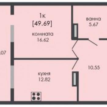 ЖК На Ошарской (Нижний Новгород) – планировка №8