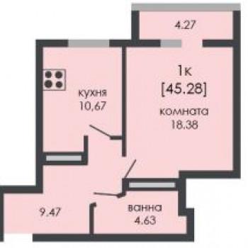 ЖК На Ошарской (Нижний Новгород) – планировка №3