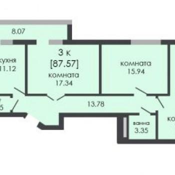 ЖК На Ошарской (Нижний Новгород) – планировка №6