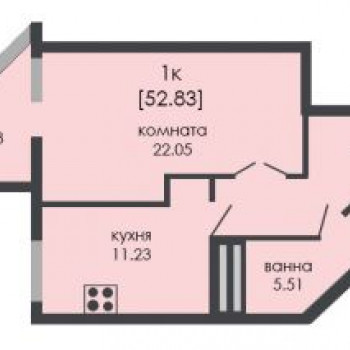 ЖК На Ошарской (Нижний Новгород) – планировка №5