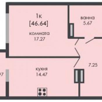 ЖК На Ошарской (Нижний Новгород) – планировка №7
