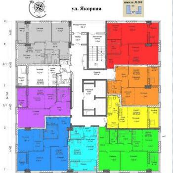 ЖК Тихая гавань (Нижний Новгород) – планировка №1