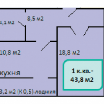 ЖК Монолит (Нижний Новгород) – планировка №1