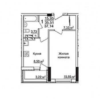 ЖК на ул. Даргомыжского (Нижний Новгород) – планировка №2