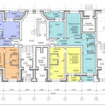 Жилой дом №2Б, МР Верхние Печеры (Нижний Новгород) – планировка №3