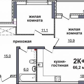 ЖК Подкова на Родионова (Нижний Новгород) – планировка №7