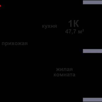 ЖК Подкова на Родионова (Нижний Новгород) – планировка №6