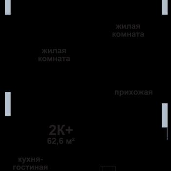 ЖК Подкова на Родионова (Нижний Новгород) – планировка №3