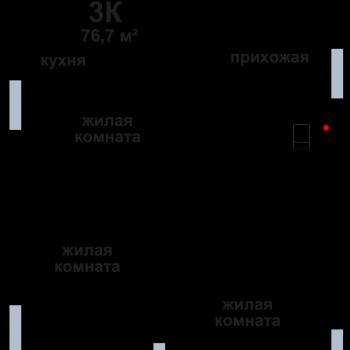 ЖК Подкова на Родионова (Нижний Новгород) – планировка №2