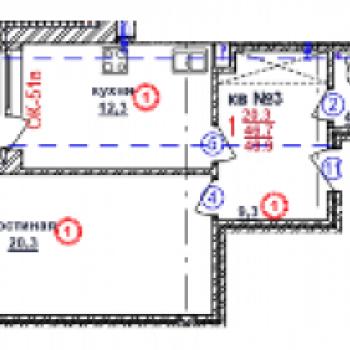 ЖК Почаинский дом (Нижний Новгород) – планировка №1