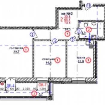 ЖК Почаинский дом (Нижний Новгород) – планировка №5