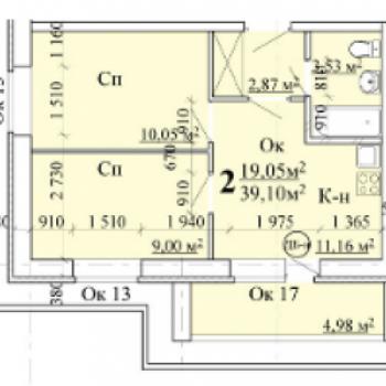 ЖК АВИА (Нижний Новгород) – планировка №3