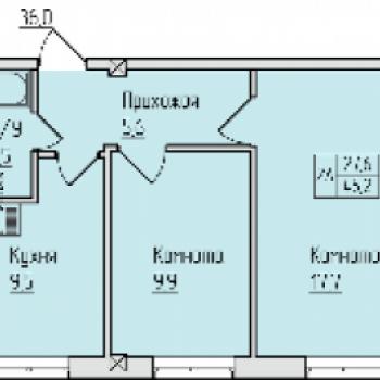 ЖК Окский берег (Нижний Новгород) – планировка №3