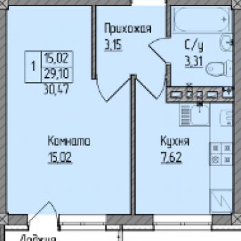 ЖК Окский берег (Нижний Новгород) – планировка №1