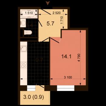 ЖК Жюль Верн (Нижний Новгород) – планировка №3