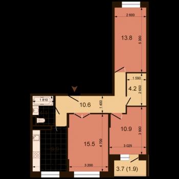 ЖК Жюль Верн (Нижний Новгород) – планировка №14