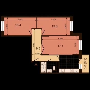 ЖК Жюль Верн (Нижний Новгород) – планировка №12