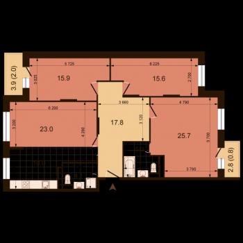 ЖК Жюль Верн (Нижний Новгород) – планировка №11