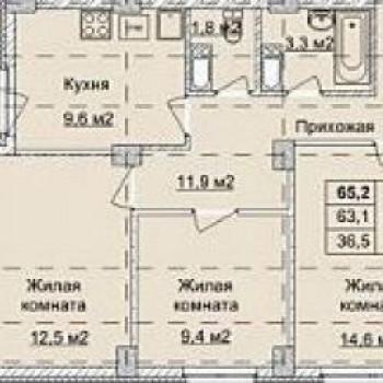 ЖК Аквамарин (Нижний Новгород) – планировка №9