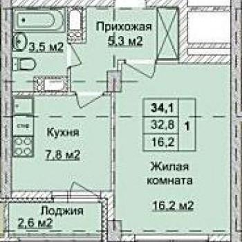 ЖК Аквамарин (Нижний Новгород) – планировка №8