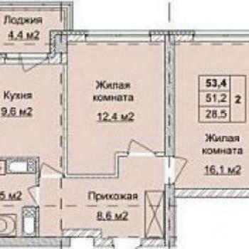 ЖК Аквамарин (Нижний Новгород) – планировка №10