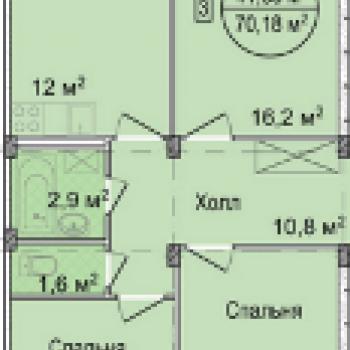 ЖК Акварель (Нижний Новгород) – планировка №2