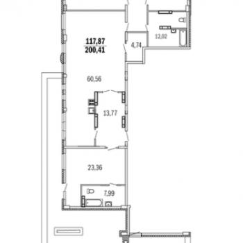 ЖК Дом с террасами (Нижний Новгород) – планировка №15