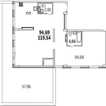 ЖК Дом с террасами (Нижний Новгород) – планировка №4