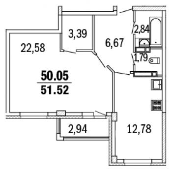 ЖК Дом с террасами (Нижний Новгород) – планировка №2