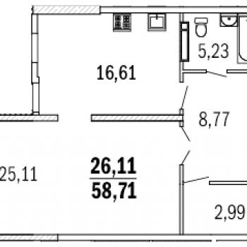 ЖК Дом с террасами (Нижний Новгород) – планировка №1